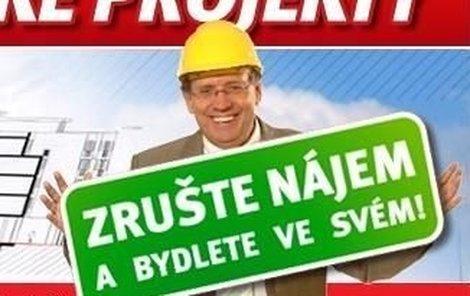 Josef Náhlovský láká lidi, aby investovali do realit.