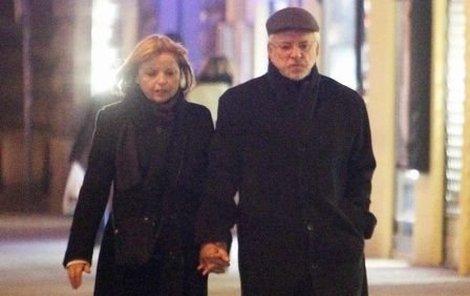 Jaromír Hanzlík vyrazil s přítelkyní Lenkou do biografu.