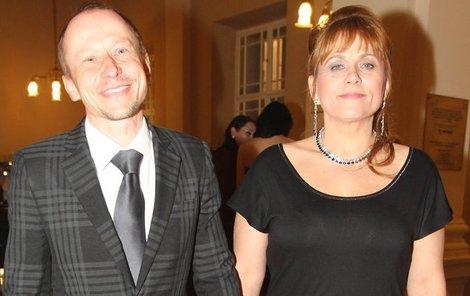Pavla Tomicová s manželem a držitelem Českého lva Ondřejem Malým