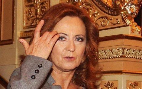 Simona Stašová držela palce v publiku.