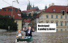 Češi se hrůze zpovodní brání humorem! Nejlepší fóry o velké vodě