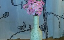 Originální váza, aneb Omotej si láhev vína a je to!