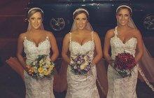 V Brazílii se vdala tři identická trojčata a hosté se ptali: Vidíme trojmo?