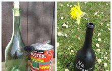 Co s lahví od vína? Přeměňte ji na vázu! Snadná dekorace od Ivanky K. (71) z Prahy