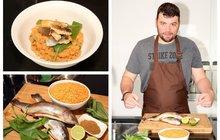 Vaříme cvalem s Michalem: Pstruh s červenou čočkou. Rybí pochoutka, kterou zvládnete za 30 minut!
