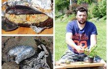 Vaříme cvalem s Michalem: Šéfkuchař Michal utekl z kuchyně a vařil na ohni! Zkuste lilek plněný kuskusem!