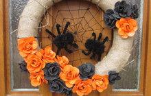Halloween se blíží! Připravte si věnec na dveře podle Magdy (38) z Klobouk u Brna: Kdo to zvládne a projde u Spidermana?