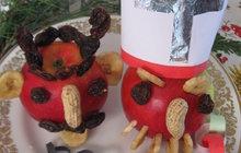 Mikuláš a čert z jablíčka. Vyrobte dětem výzdobu na poslední chvíli!
