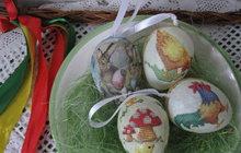 Velikonoční inspirace: Decoupage vajíčka. Připravte se na svátky jara!