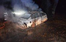 Řidič narazil do stromu a... Uhořel v autě!