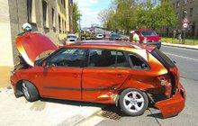 Řidička fabie v Nymburce: »Sestřelila« policejní vůz!