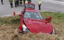 Dupnul na brzdu, zničil Ferrari za 6 000 000 Kč!