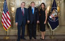 Zeman se v New Yorku setkal s Trumpem: Jen si tak trochu potřást rukou…