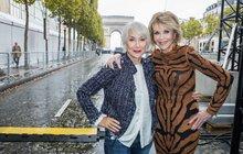Pařížskou módu ovládly veteránky: Mirren + Fonda  = 151 let!
