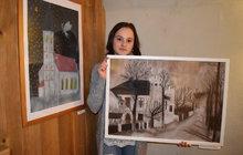 Míša Kuchtová (14): Starý hostinec malovala osm hodin