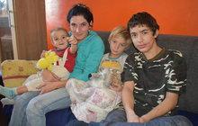 Na ulici se 4 dětmi! Ludmila (31) trpí i sklerózou...