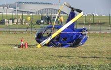 Na pole se zřítil vrtulník!