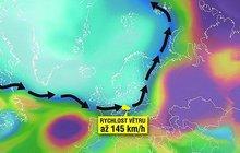Držte si čepice, v Evropě to pěkně fičí. Českem právě dnes prochází okraj mohutné tlakové níže a po její hraně sviští orkán Xanthos. Meteorologové varují, že na horách může v nárazech vítr dosáhnout až 145 km/h.
