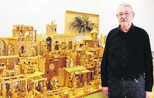 Bývalý strojař z Rudic: Postavil 5 metrový betlém