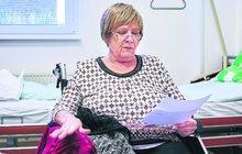 Zraněná Obermaierová (71): BOLESTIVÉ NATÁČENÍ V NEMOCNICI