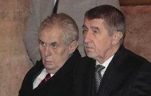Babiš a prezident Zeman ztrácejí důvěru
