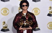 Ceny Grammy: Album, píseň i nahrávku roku má Bruno Mars