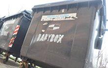 Nejapný žert sprejera: Kontejnery na odpad označil jako babybox