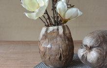 """Vytvořte si vázu v """"etno"""" stylu z kokosu!"""