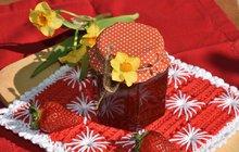 Letní ovoce: Jahodový džem s reberborou