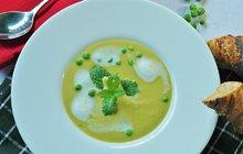 """POTŘEBUJETE:400 g hrášku1 l zeleninového vývaru1 cibuli2 stroužky česneku1 hrst čerstvé bazalky40 g parmazánu4 plátky parmské šunky<a style=""""font-size: 10px;"""" href=""""http://fresh.iprima.cz/suroviny/olivovy-olej"""">olivový olej</a>sůl<a style=""""font-size: 10px;"""" href=""""http://fresh.iprima.cz/suroviny/pepr"""">pepř</a>"""