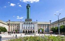 Prvorepublikové památky: Nová radnice v Ostravě - Pohled z ptačí perspektivy