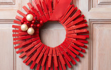 Vánoční dekorace z kolíčků na prádlo...