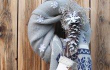 Zimní inspirace od designérky Martiny: Šálový věnec