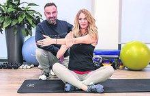 Je ve čtvrtém měsíci těhotenství, přesto Nikol Moravcová (31) pravidelně dochází za svým trenérem, aby se i s miminkem v bříšku udržovala fit.
