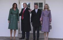 Babišovi u Trumpa: 10 největších momentů z Bílého domu