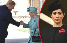Trump na návštěvě u královny: Meghan radši zůstala doma!