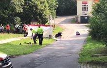 Řidič (54) zabil v Humpolci chlapečka (†2,5), sestřička (8 měs.) bojuje o život