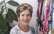 Marcela Šťastná (82) - Každý rok si doplave pro medaili!