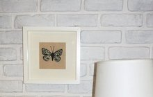 Látkoví  motýlci se hodí i na zeď - do rámečku