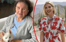 Ivanka Trumpová (37) trávila víkend se svou babičkou Marii Zelníčkovou, která nedávno oslavila 93. narozeniny. Ktéto příležitosti sdílela dcera amerického prezidenta na sociální síti vlastnoručně pořízený snímek sdojemným vzkazem.