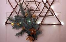 Nápaditá dekorace: Přírodní hvězda podle blogerky Pavly...