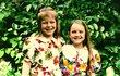 Dcera Olgy Želenské Karolína (vlevo).