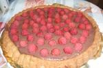 Malinový koláč s krémem mascarpone