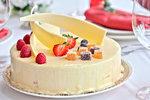 Jahodový dort s bílou čokoládou