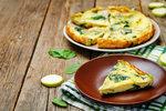 Cuketová omeleta se šunkou