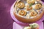 Tvarohovo-makový koláč s jablky