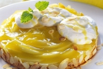 Pudinkový dort s jablečným a tvarohovým krémem