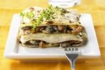Lasagne s houbami a sýrovou omáčkou