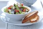 Jarní salát z marinovaných ryb