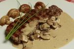 Faux filet s houbovou omáčkou